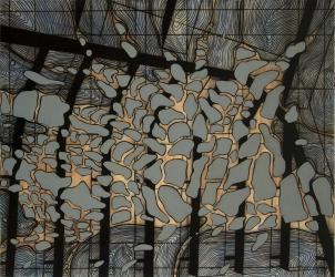 De la serie Sombras de la modernidad | 2010 | 150X180 cm | Mixta sobre tela